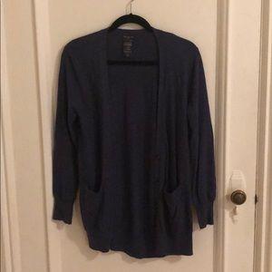 Small Blue cashmere Aritzia cardigan sweater